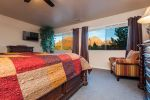 Master bedroom with views of the red rocks
